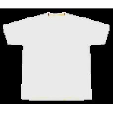 Camiseta Branca com Bordado - masculina adult. m/curta - 100% algodão 30/1